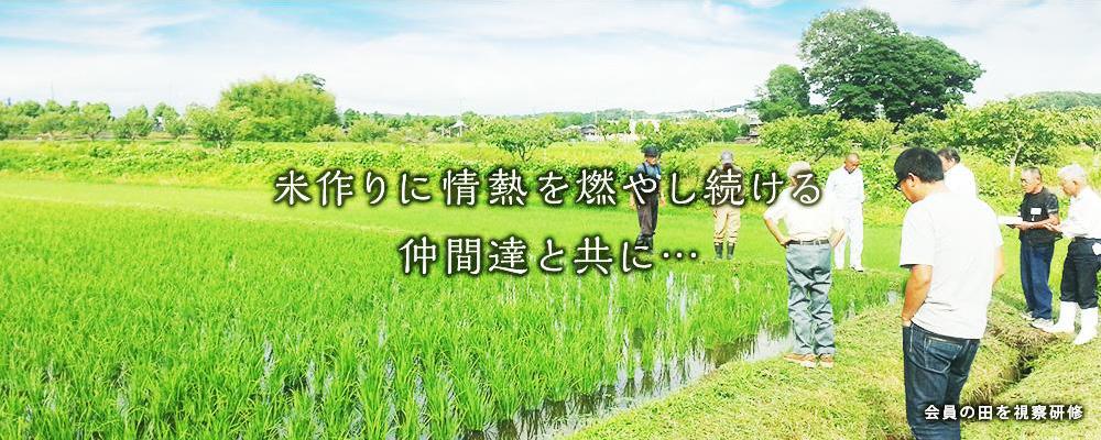 米作りに情熱を燃やし続ける仲間達と共に・・・